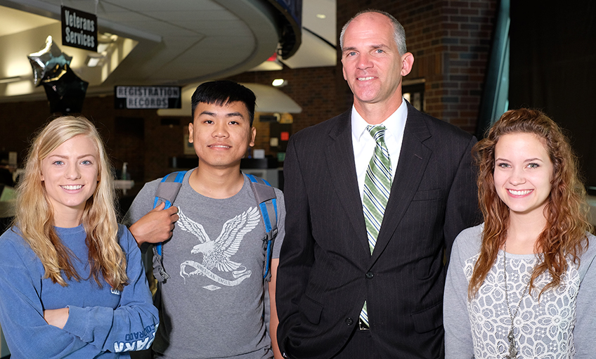 Dr. Illich with Students